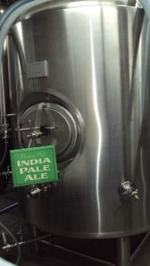 A fermentation vessel full of Missouri Mule India Pale Ale