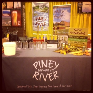 The Piney River booth.