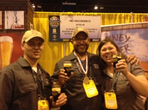Our first Piney River toast with our Gold medal winning Old Tom Porter.
